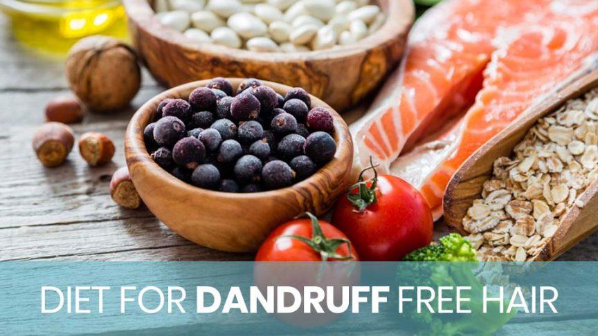 diet that is good for dandruff free hair