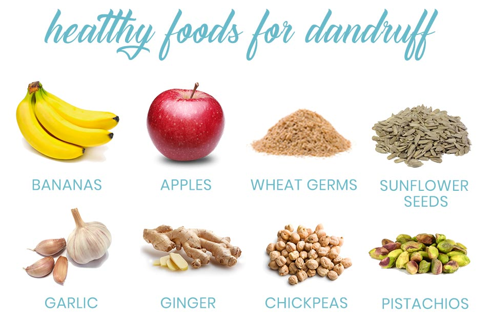 A list of healthy foods for dandruff