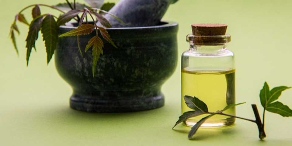 Neem oil in a bottle
